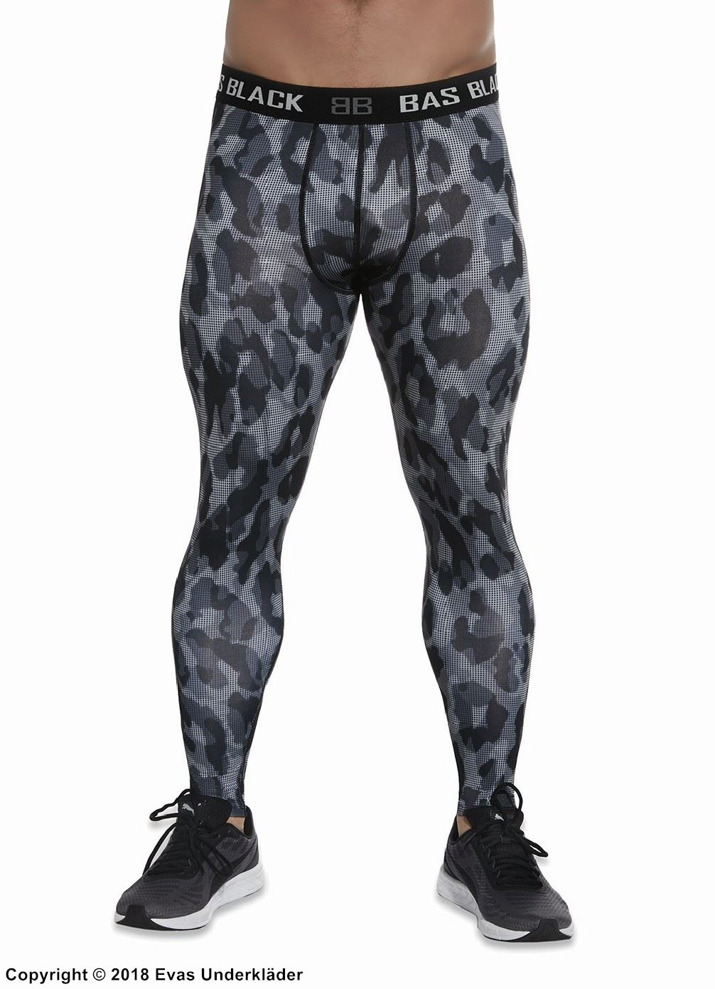 Men's training tights, camouflage